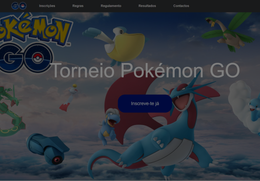 Torneio Pokemon Go-Website